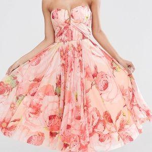 Petite Wedding dress in floral print